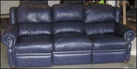 Leather Pros Inc reconditioned Sofa